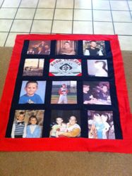 Photo and t-shirt quilt