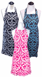 Damask adult aprons