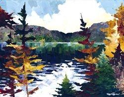 L'eau calme du lac Cabot