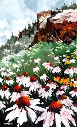 Montagne en fleurs