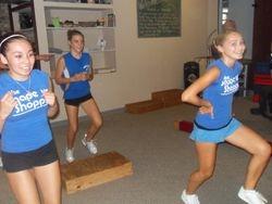 Team training step class