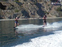 Wake boading duo