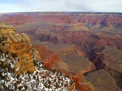 The South Rim with Snow