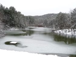 Lake Sautee from dam