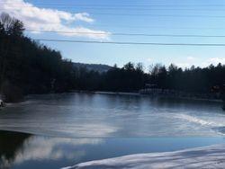 Lake is still frozen!