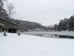 Rare frozen lake