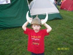 Jacob in Warrior Hat