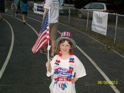 Molly in patriotic lap