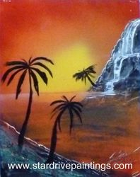 Tropical Waterfall Island theme.