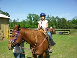 Lulu giving a 5yr girl her first lesson