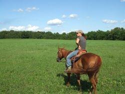 Lulu & I in the Hay field