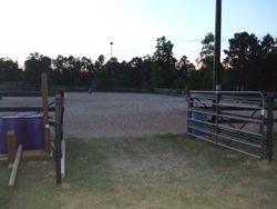 Alley Way of outdoor Lighted Arena