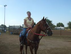 Kristie & Rock @ Barrel Race 6-27-09 Sealy,TX