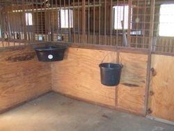 inside of our barn stalls