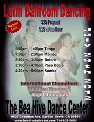 Latin & Ballroom Workshop - Sun. July 29, 2012