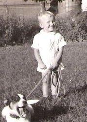 Arnie with dog