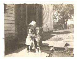 Vivian and a dog