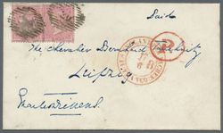 Envelope from Dickens to Tauchnitz