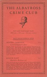 Publicity leaflet for the Albatross Crime Club