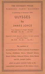 Publicity leaflet for Ulysses