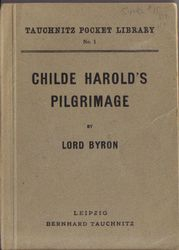 I1 Childe Harold's Pilgrimage