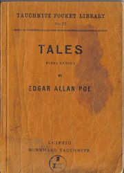 I22 Tales by Edgar Allan Poe.  First Series.