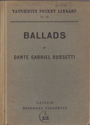 I62 Ballads by Rossetti