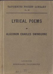 I69  Lyrical Poems by Swinburne