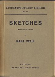 I88  Sketches by Mark Twain.  Second Series.