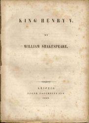 F16 King Henry V title page
