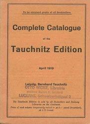 Complete catalogue April 1919