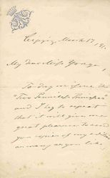 Letter to Charlotte Yonge