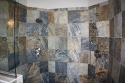 Master shower tile work