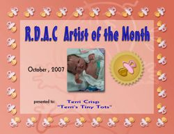 October 2007 Artist of the Month RDAC