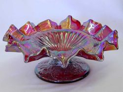 Fenton Christmas compote, red