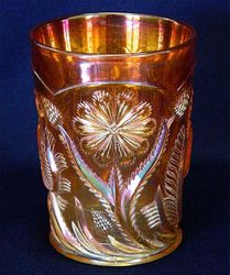 Field Thistle tumbler, marigold, US Glass