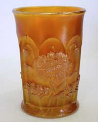 Oriental Poppy tumbler, marigold