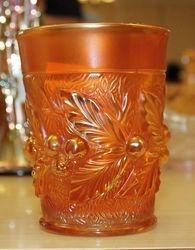 Acorn Burrs tumbler, marigold
