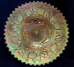 "Fanciful 9"" plate, marigold"