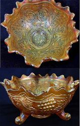 Persian Medallion orange bowl, marigold