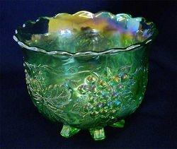 Grape Delight nut bowl, by Mosser for John Jennings, in green
