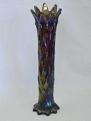 """Lined Lattice 12"""" vase, purple"""