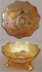 Lotus and Grape ftd bowl, marigold