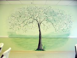 Dogwood Tree mural