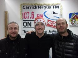 Carrick Rangers manager Michael Hughes and coach Colin Telford join me for interview