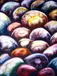 "Gift Painting, M-J de Mesterton Oil on Canvas 5x7"""