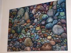Headstones Oil on Canvas M-J de Mesterton Copyright 2007