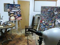 Escondido, Oil on Canvas Copyright M-J de Mesterton 2008