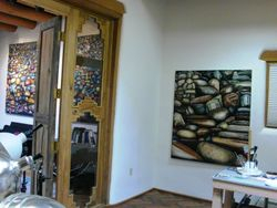 Rock Paintings in M-J de Mesterton Studio