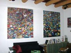 M-J de Mesterton Large Rock Oil Paintings 1975 and 2007